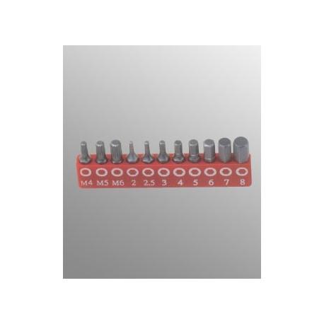 Spline (12 szögű torx) és imbusz bit készlet
